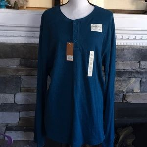 Sonoma thermal Henley long sleeve shirt xl